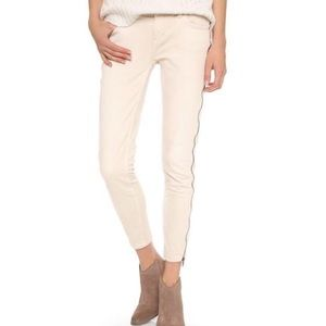 FREE PEOPLE / Zipper sides white skinny jean